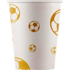 Football Gold Paper Cups