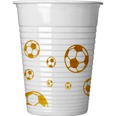 Football Gold Plastic Cups