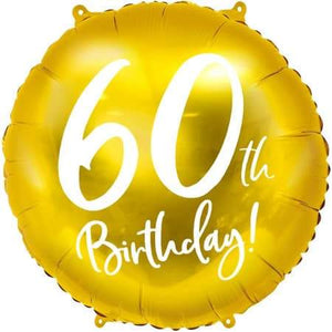 60th Birthday Gold Foil