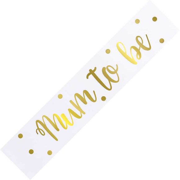 Gold Foil Mum to Be Sash
