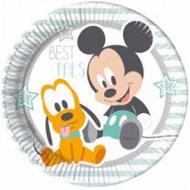 Infant Mickey Paper Plates