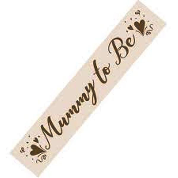 Mummy to Be Sash Cream & Gold