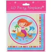 Mermaid Party L/Napkins