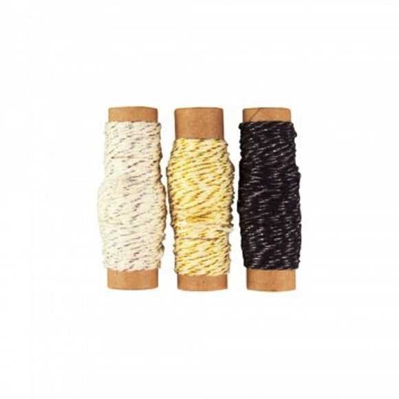 Metallic Twine Pk of 3