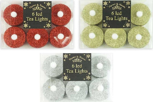 LED Glitter Tealight Candles