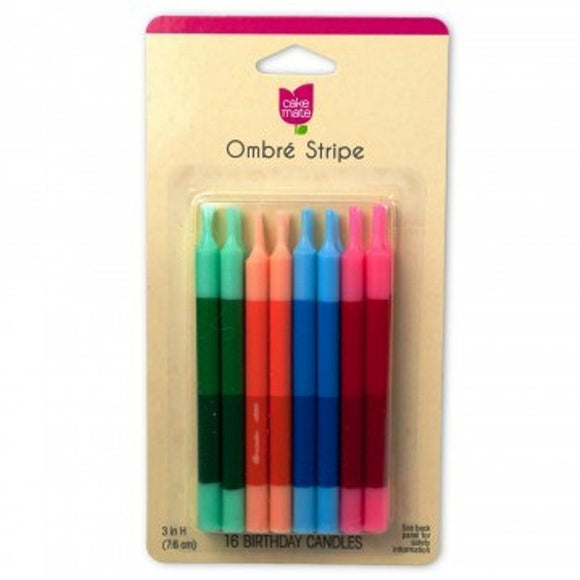 Ombre Birthday Candles 16pk