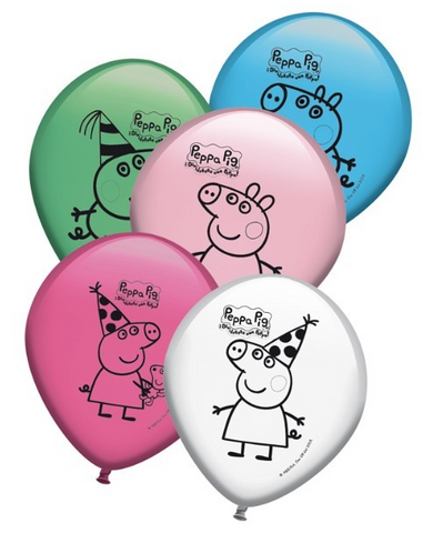 Peppa Pig Party Latex Balloons