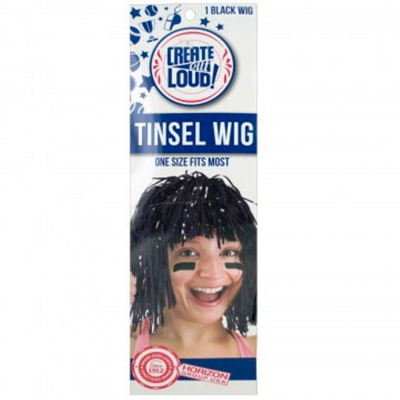 Black Tinsel Wig