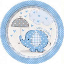 Umbrellaphants Blue Plates