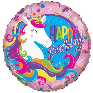 Unicorn Happy Birthday Foil