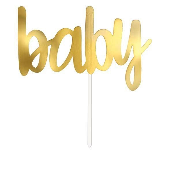 Gold Baby Shower Cake Topper