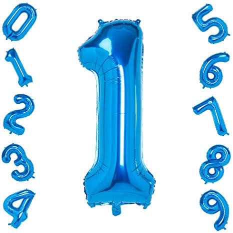 Blue N0: 1 Foil Balloon