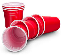 Plastic Party Cups Red