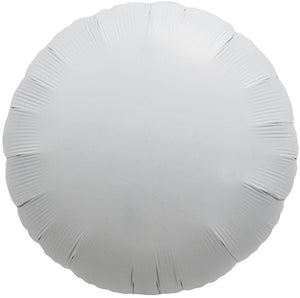WHITE FOIL BALLOON