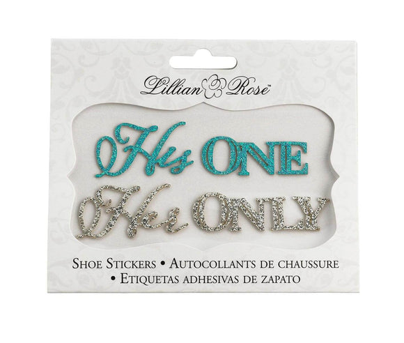 His One Her Only Shoe Stickers