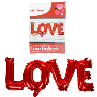 15cm Text LOVE Foil