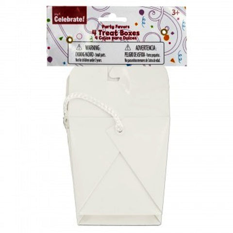White Treat Boxes 4Pk