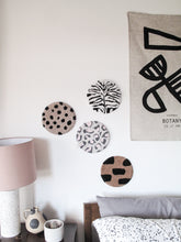 Fibre Wall Art In Pink and Grey Leopard
