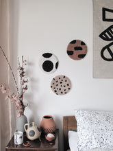Fibre Wall Art In Warm Beige Cheetah Spots