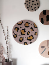 Fibre Wall Art In Small Blush Leopard