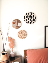 Fibre Wall Art In Soft Pink Leopard
