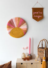 Fibre Wall Art In Bright Sunburst