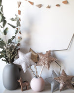Christmas Star Tree Topper in Rose Gold