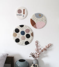 Fibre Wall Art in Dusky Tones and Shapes