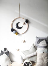 Navy and Gold Moon and Stars Mobile