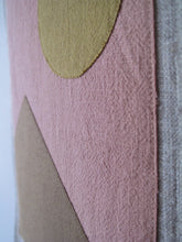 Landscape Linen Wall Banner in Coral Sun