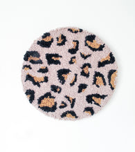 Fibre Wall Art In Blush Leopard