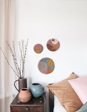 Trio of Fibre Wall Art in Mixed Organic Shapes