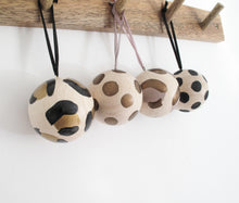 Hand Painted Wooden Christmas Baubles
