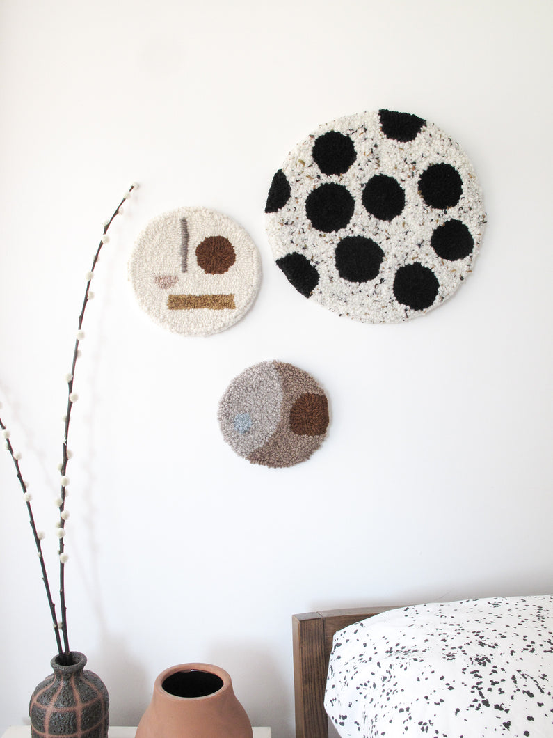 Fibre Wall Art in Warm Neutral Shapes