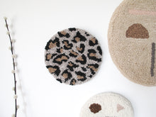Fibre Wall Art In Beige Leopard