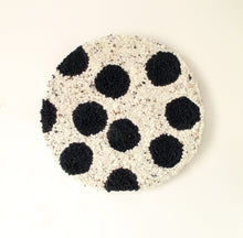 Fibre Wall Art In Black Spots