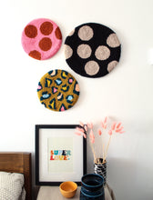 Fibre Wall Art In Brights and Mustard Leopard