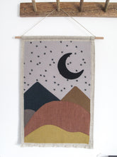 Landscape Linen Wall Banner in Moon Mountain