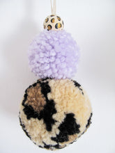 Animal Print Pom Pom Decorations