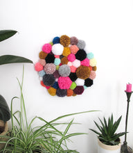 Pom Pom Wall Hanging/Wall Art Multi Mix