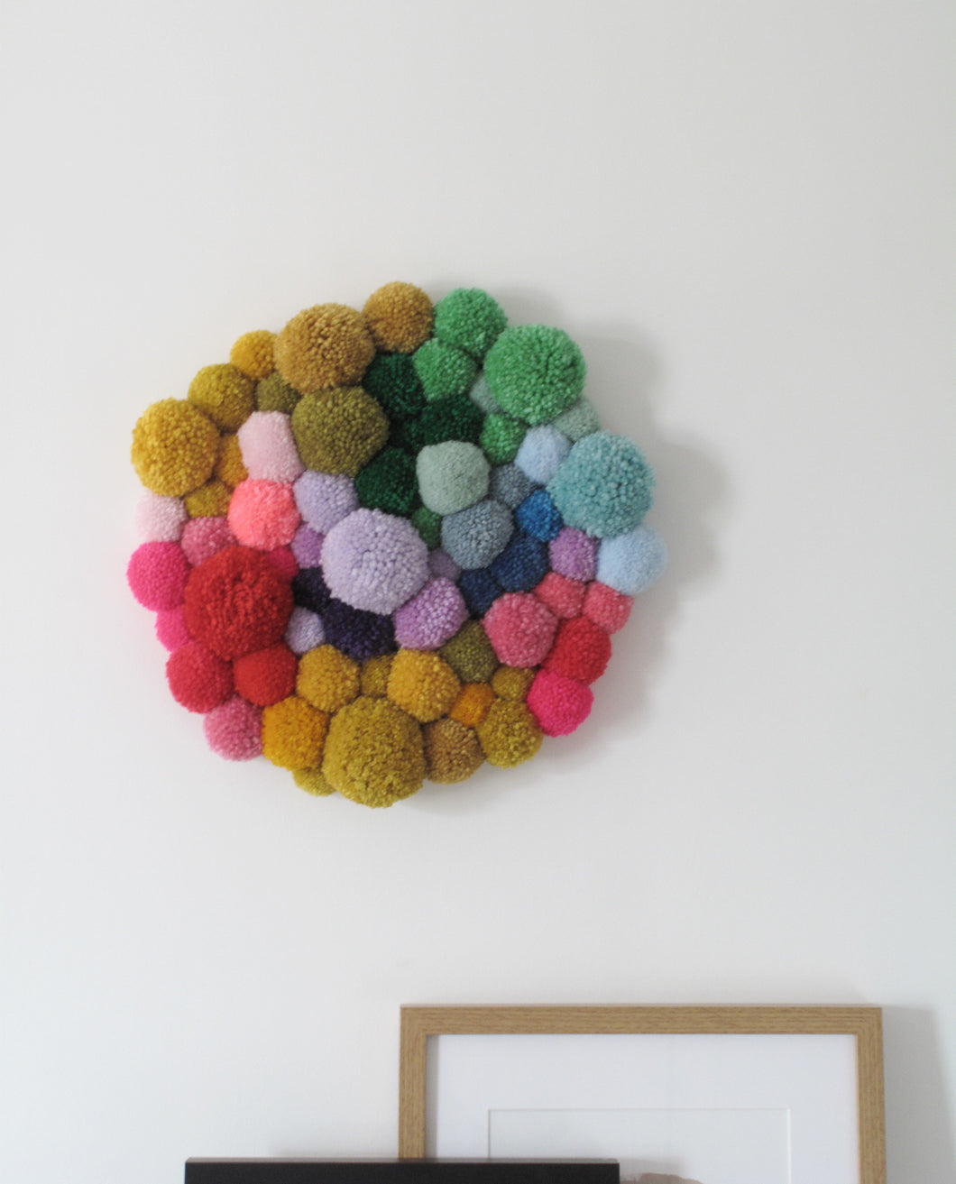 Pom Pom Wall Hanging/Wall Art Multi Mix *Custom Order for Pippa*