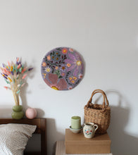 Large Floral Fibre Art Wall Hanging
