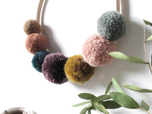 Small Pom Pom Wreath in Rich Velvets