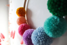 Pom Pom Wreath in Bright Rainbow