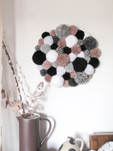 Pom Pom Wall Hanging/Wall Art Mono Mix *Custom Order for Debi*