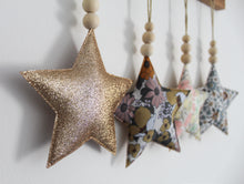 Large Star Decoration with Wooden Beads