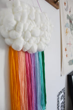 Cloud Woven Wall Hanging in Special Edition Vegan Bright Rainbow