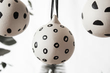 Monochrome Mixed Pattern Hand Painted Baubles