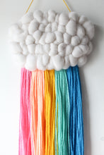 Bright Colour Pop Rainbow Cloud Weave
