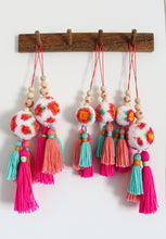 Bright Floral Pom Pom and Tassel Decorations